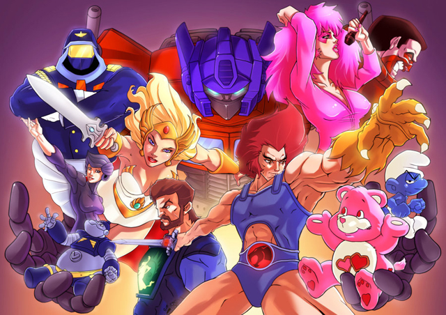 80s025 Awesome 80′s Cartoons Illustrations