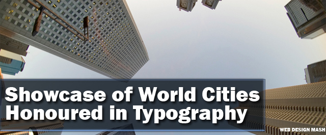 cities in typography The Urban Jungle   Fantastic Cityscape Photography