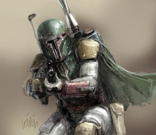 boba fett 001 Star Wars   Boba Fett in Artwork   The Ultimate Badass!