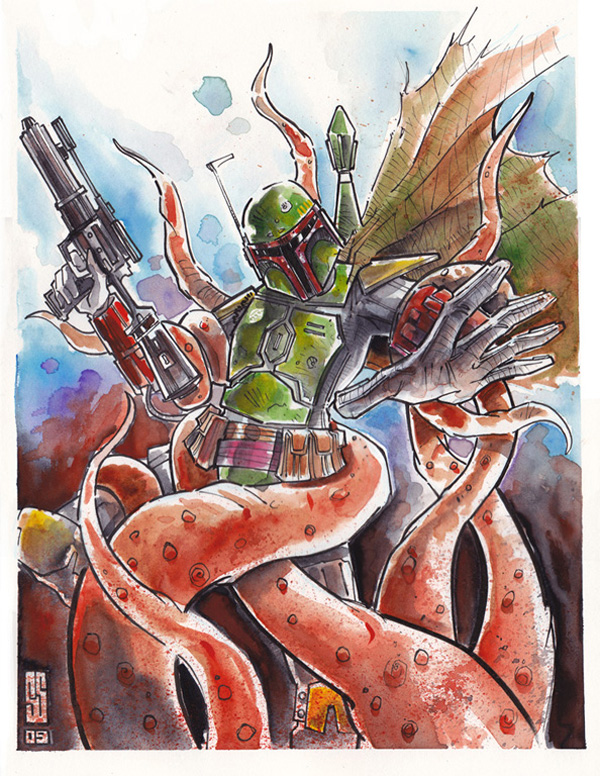 boba fett 017 Star Wars   Boba Fett in Artwork   The Ultimate Badass!