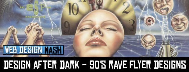 design after dark rave flyers collection Design After Dark   90s Rave Flyer Designs
