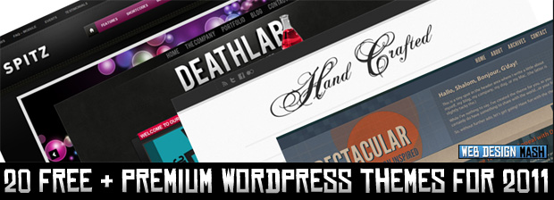 free premium wordpress themes 20 Quality Free & Premium Wordpress Themes for 2011