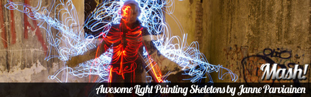 awesome light paintings janne parviainen Awesome Light Painting Skeletons by Janne Parviainen