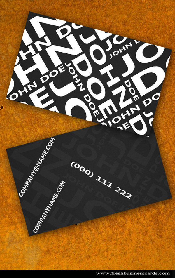 business card templates 16 20 Free Awesome Business Card Templates