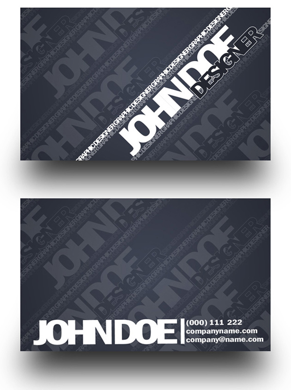 business card templates 191 20 Free Awesome Business Card Templates