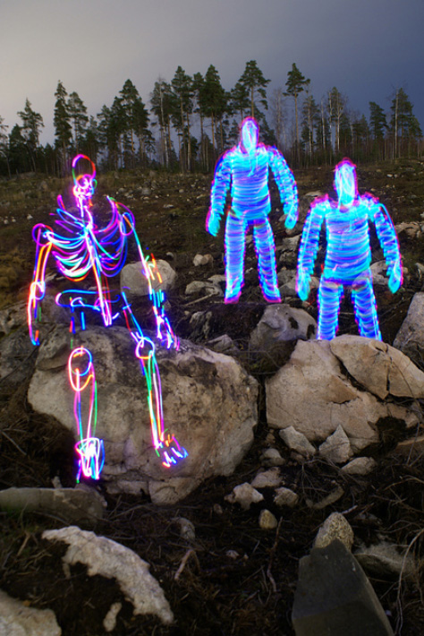 light paintings 001 Awesome Light Painting Skeletons by Janne Parviainen