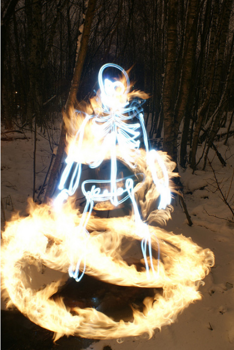 light paintings 004 Awesome Light Painting Skeletons by Janne Parviainen