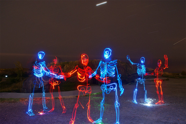 light paintings 005 Awesome Light Painting Skeletons by Janne Parviainen