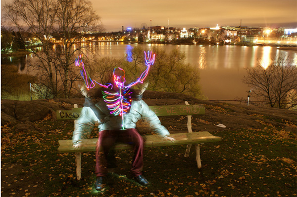 light paintings 012 Awesome Light Painting Skeletons by Janne Parviainen