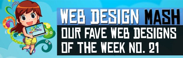 wdm web designs of the week1 Our Fave Web Designs of the Week No. 21