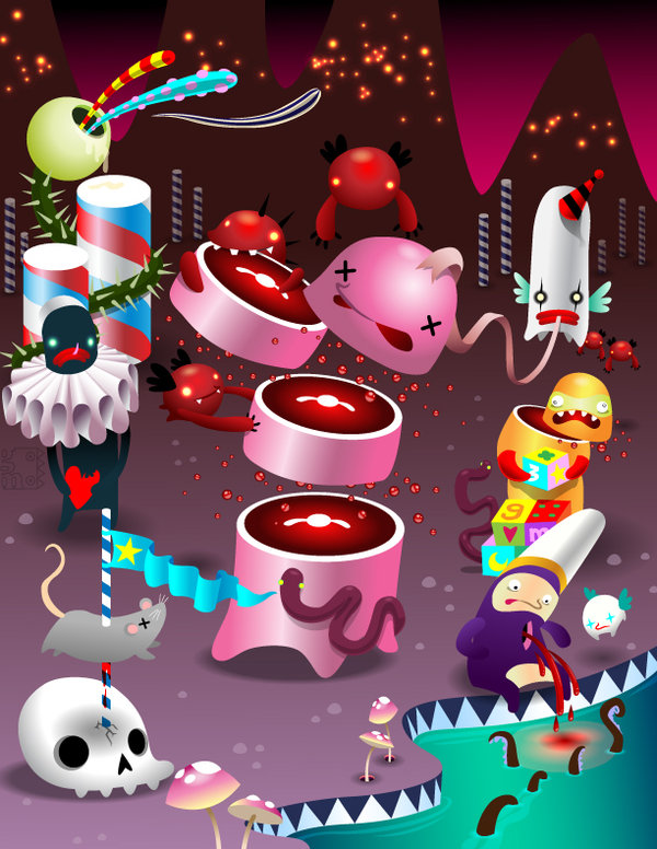 assassisausage by grelin machin The Cute and Creepy Vector Art of Grelin Machin