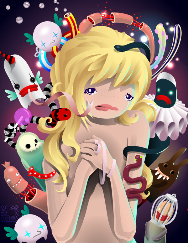 the end of innocence by grelin machin The Cute and Creepy Vector Art of Grelin Machin