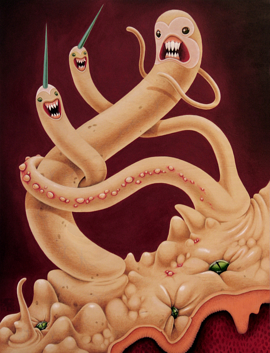 the greed of genes by grelin machin d3ghq7n The Cute and Creepy Vector Art of Grelin Machin