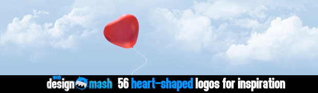 heart shaped logos1 56 Heart Shaped Logos for Inspiration
