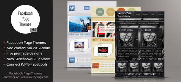 Facebook Page Themes 570 Using the Facebook Page Themes Plugin for WordPress