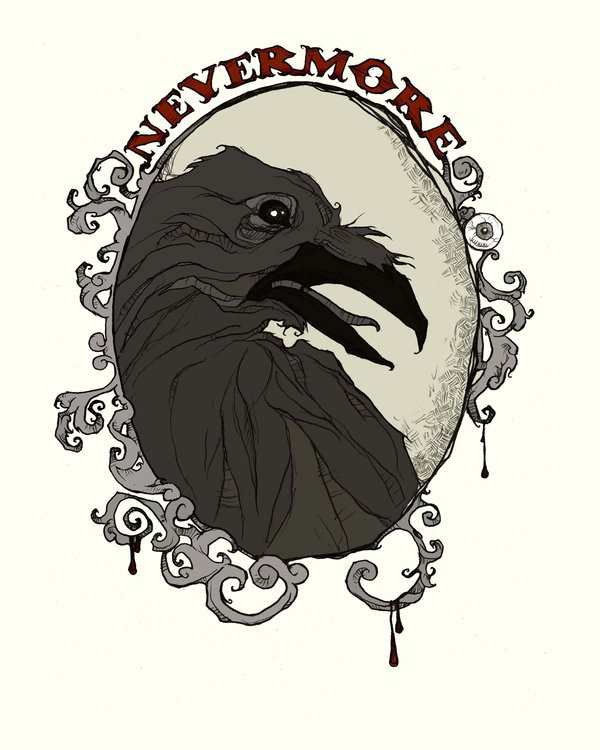06 nevermore by mirrorcradle d346twp1 Of Mystery and Macabre – 20 Images of Edgar Allan Poe's The Raven