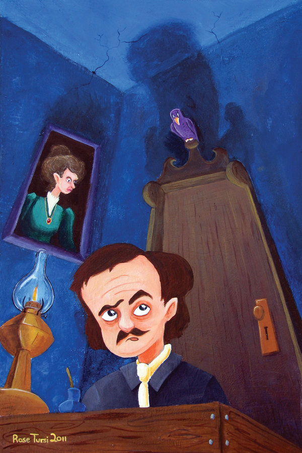 20 quoth the raven by tursiart d3bqnqm1 Of Mystery and Macabre – 20 Images of Edgar Allan Poe's The Raven