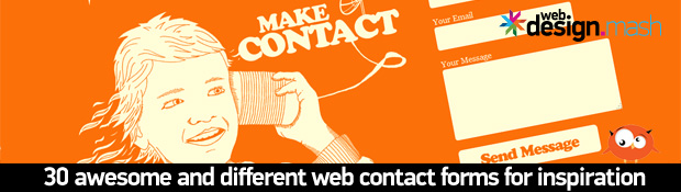 30 awesome contact forms 30 Awesome & Different Web Contact Forms for Inspiration