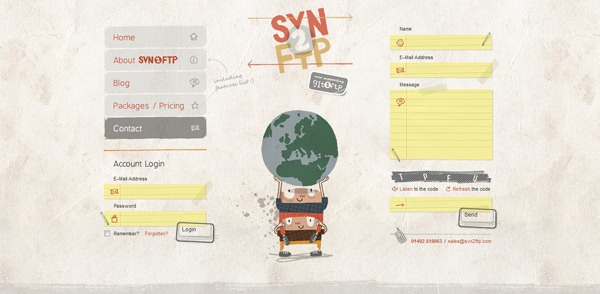 contact form 10 30 Awesome & Different Web Contact Forms for Inspiration