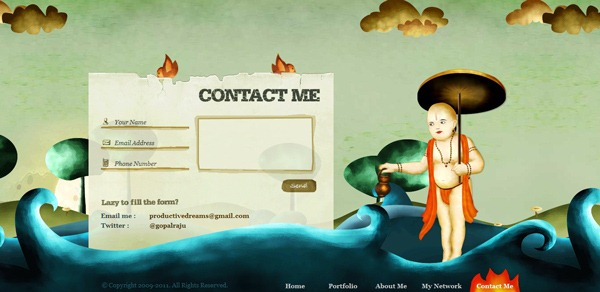 contact form 12 30 Awesome & Different Web Contact Forms for Inspiration