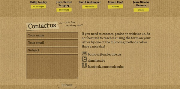 contact form 21 30 Awesome & Different Web Contact Forms for Inspiration