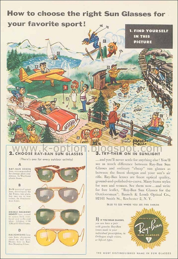 13 rayban Never Hide! – 20 Cool Ray Ban Vintage and Modern Ads