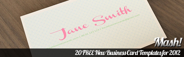 business card templates for 2012 20 FREE New Business Card Templates for 2012