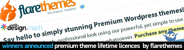 winners announced flarethemes Winners Announced   5 Premium Theme Lifetime Licences from FlareThemes