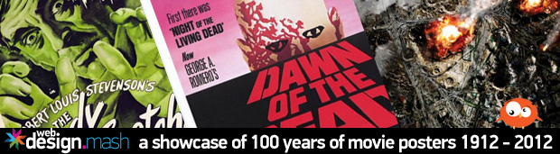 100 years of move posters A Showcase of 100 Years of Movie Poster Designs 1912   2012