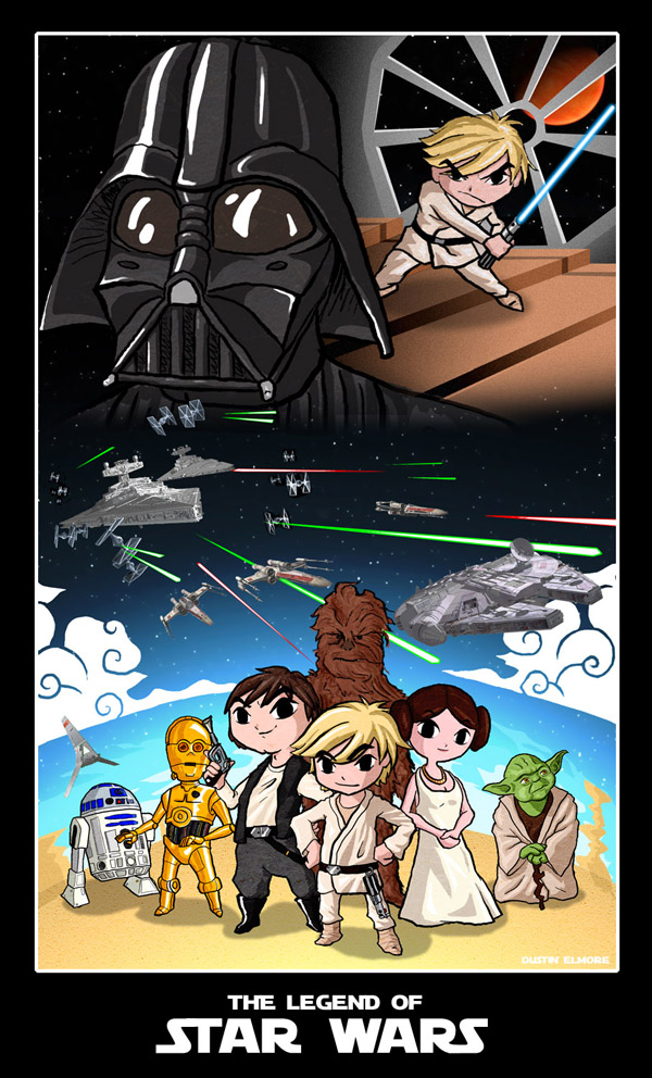 star wars art 03 May the 4th Be With You   Official Star Wars Day   A Tribute in Art