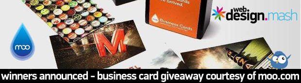 winner business cards from moo1 Winners Announced   Business Cards Giveaway Courtesy of Moo