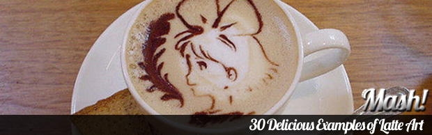 30 delicious example of latte art 30 Delicious Examples of Latte Art
