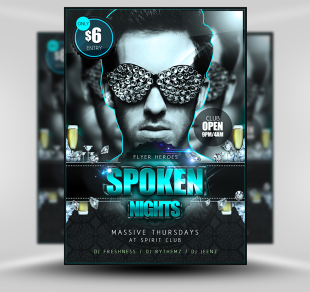 flyer templates psd free