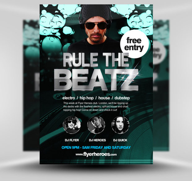 rule the beats flyer template