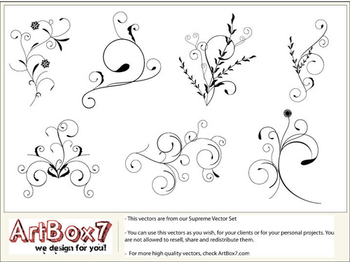 Vector flourishes swirls 02 35 FREE Vector Flourishes and Swirls for Inspiration