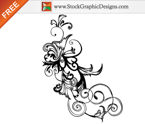 Vector flourishes swirls 22 35 FREE Vector Flourishes and Swirls for Inspiration