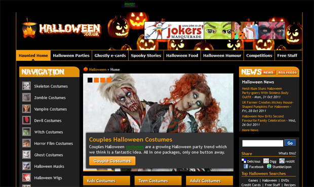 halloween sites 01 10 Inspiring Websites to Get You in the Mood for Halloween