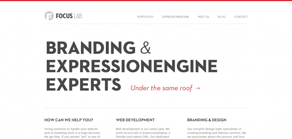 Huge typography in web designs